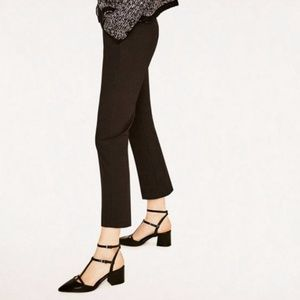 Zara Black Patent Leather Double Strap